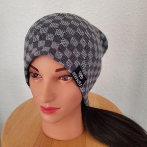 Ecko Unltd Gray Checkered Beanie Winter Hat